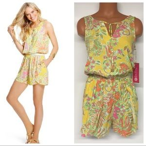 Lilly Pulitzer Challis Romper Happy Place